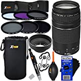 Canon EF 75-300mm f/4-5.6 III Telephoto Zoom Lens for Canon SLR Cameras (International Version) + ND Filters ND2, ND4, ND8 + 11pc Bundle Deluxe Accessory Kit w/ HeroFiber Cleaning Cloth