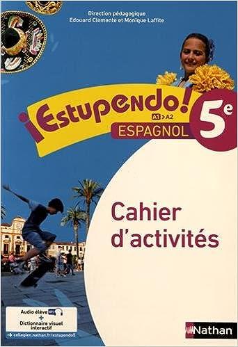 Amazon Fr Espagnol 5e Estupendo Cahier D Activites