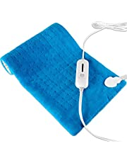 """Large Electric Heating Pad Fast Heating Warming XL [12""""x24""""] Soft Touch, 6 Heat Settings with Auto-Off, Hot Heated Pad for neck waist"""