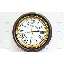 Sailor's Art Wall Clock Colonial 16 Inch Attractive Base
