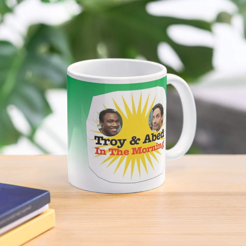 Troy Troy And Abed In The Morning Community Cup Abed Standard Handmade Top Selling 11 Oz White Novelty Gift Friend Mug