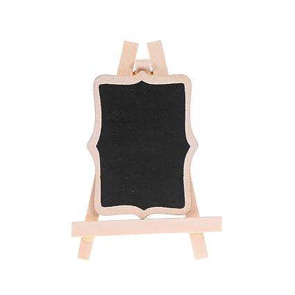Amosfun Mini mensaje pizarra escritorio madera memo tablero ...