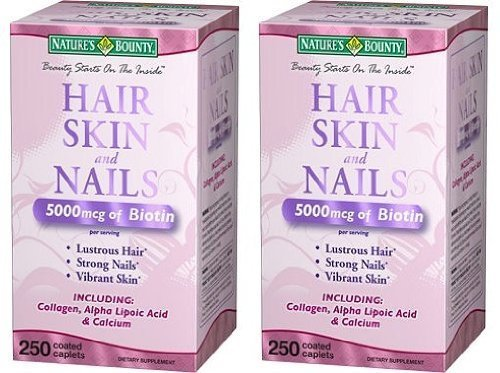 Extra Strength CUfTaM Hair, Skin Nails, 3 Bottles (250 Count)