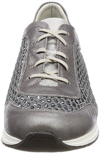 Mujer Oxford de Gray Viola para Dorking Cordones Zapatos Gris BqYWpfWwPF