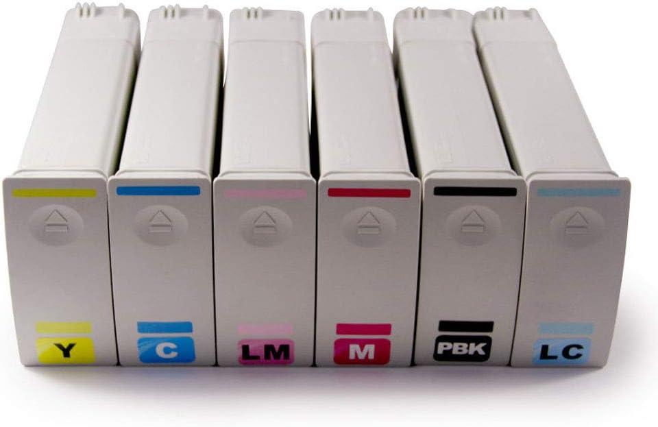 81 4930A 4931A 4932A 4933A 4934A 4935A cartucho de impresora fotográfica para HP Designjet 5000 5500 Plotter Cartridges Full Set: Amazon.es: Oficina y papelería