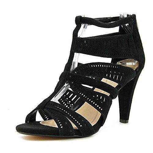 Casual Toe Chloey Alfani Strappy Sandals Suede Womens Black Round wxTIIzXZ