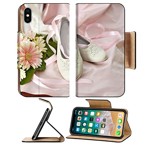 First Communion Portrait (Liili Premium Apple iPhone X Flip Pu Leather Wallet Case dress and shoes for the first communion Photo 6992547 Simple Snap Carrying)