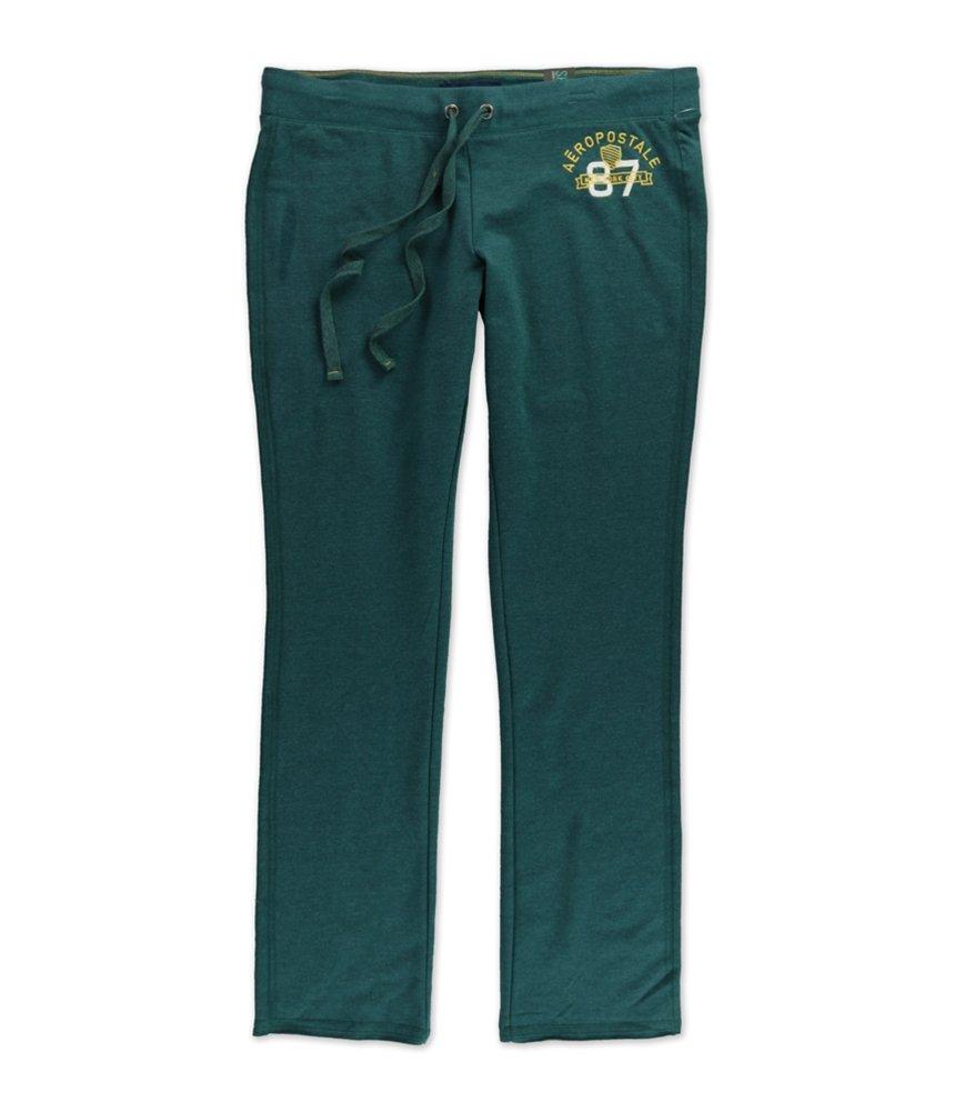 Aeropostale Womens Skinny NYC Athletic Sweatpants Green S/32 - Juniors