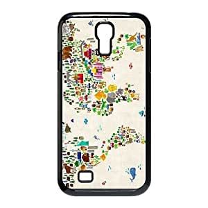 DIY High Quality Case for SamSung Galaxy S4 I9500, MAP Phone Case - HL-2962028