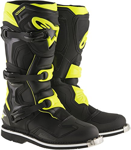 Alpinestars Men's Tech 1 Boots (Black/Yellow, Size 7) by Alpinestars
