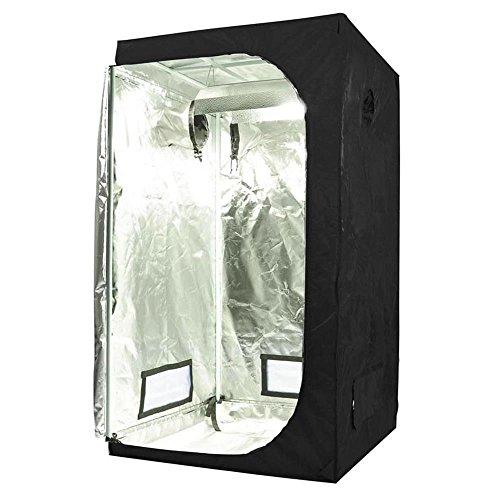 Oppolite 36″X36″X72″ Indoor Grow Tent Room 600D Reflective Diamond Mylar Hydroponic Garden Growing Plant with Plastic Corner (36″x36″x72″) Review