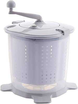 Portable Hand Powered Washing Machine Mini Manual Washer and Spin Dryer Combo Non-Electric Compact RV Laundry Machine for Camping Apartments
