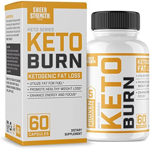 Extra Strength Ketogenic Fat Burner and Nootropic Supplement – Supports Healthy Weight Loss, Mental Focus Clarity – L Theanine, Bacopa Monnieri More – 60 Ct. – Sheer Strength Labs