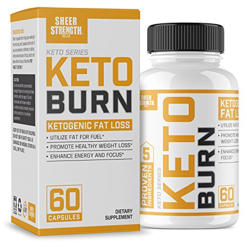 Extra Strength Ketogenic Fat Burner and Nootropic Supplement - Supports Healthy Weight Loss, Mental Focus & Clarity - L Theanine, Bacopa Monnieri & More - 60 Ct. - Sheer Strength Labs by Sheer Strength Labs