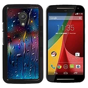 Motorola Moto G2 II / Moto G (2nd gen) / Moto G (2014) , Radio-Star - Cáscara Funda Case Caso De Plástico (Color Drops)