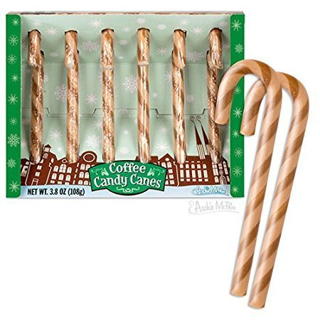 Archie McPhee Coffee Candy Canes - 3.8 Ounce, 6 Count (Pack of 2)