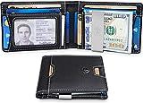 TRAVANDO Slim Wallet with Money Clip RFID Blocking Wallet | Credit Card Holder | Travel Wallet | Minimalist Mini Wallet Bifold for Men with Gift Box