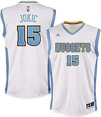 half off 55e3e a2a83 adidas Nikola Jokic Denver Nuggets NBA Men's White Official Replica Jersey
