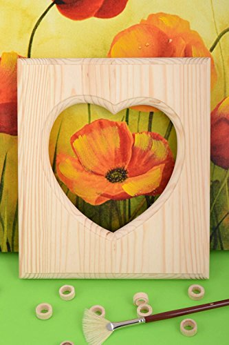 Handmade Wooden Craft Blank For Photo Frame With Heart Shaped Cut For - Wooden Buy Frames