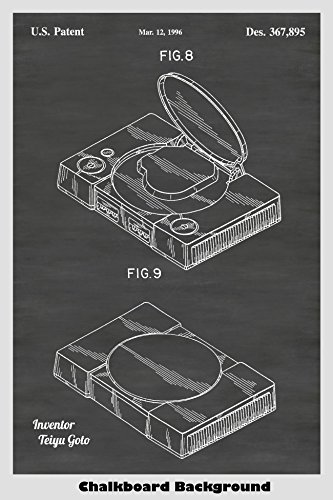Sony Playstation Video Game System Poster Patent Print Art P