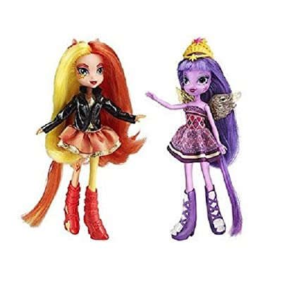 My Little Pony Equestria Girls Sunset Shimmer and Twilight Sparkle Figures: Toys & Games