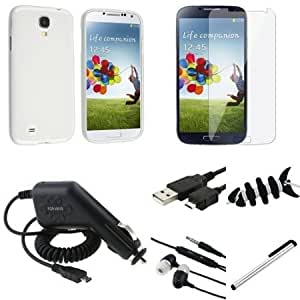 Quaroth Everydaysource Compatible with Samsung Galaxy SIV S4 i9500 7pcs Accessory Clear Case + Clear LCD Protector +...