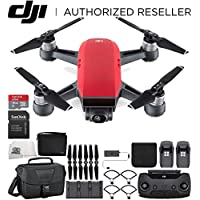 DJI Spark Portable Mini Drone Quadcopter Fly More Combo Travel Bundle (Lava Red)