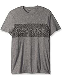 Men's Short Sleeve Dash Logo Crew Neck T-Shirt
