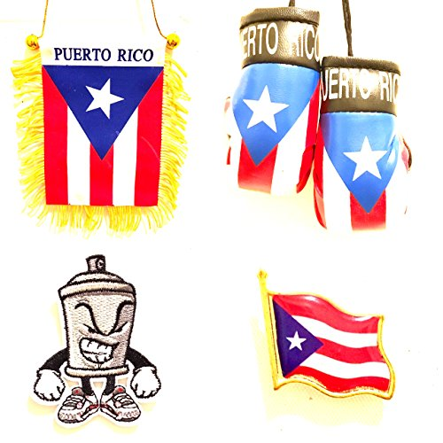 Puerto Rico mini banner flag for automobile or Home 4pc Boricua style Cars suv vans or Home