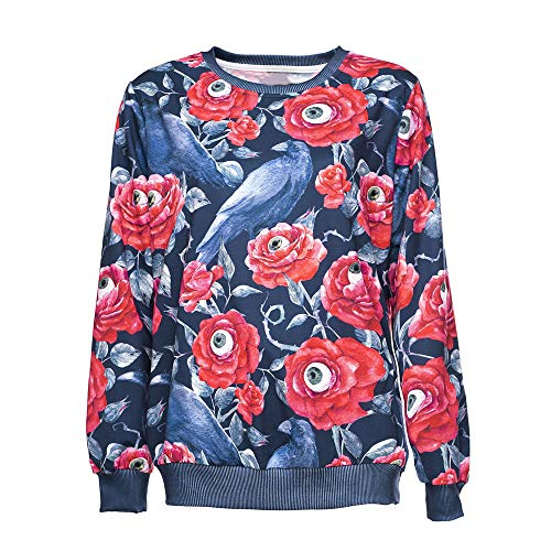 Ulanda Fashion Women Halloween Hoodie Sweatshirt Party Long Sleeve Printed Pullover Blouse O-Neck Sweatshirt by Ulanda (Image #4)