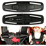 Car Baby Safety Seat Strap Buckle Latch Lock Tite Harness Chest Clip Nylon Black