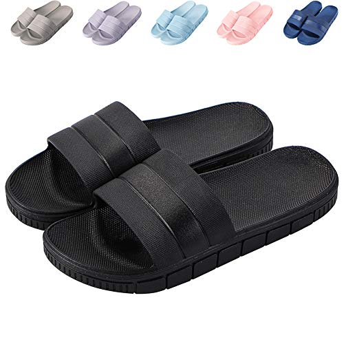 cac0103417ce 17KM Bath Slipper Women Men Non-Slip Open Toe Shower Sandals Indoor Outdoor  Soft Flat