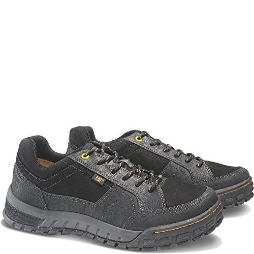 Cat ® SENTINEL Herren Leder Schnuren Schuhe Schwarz
