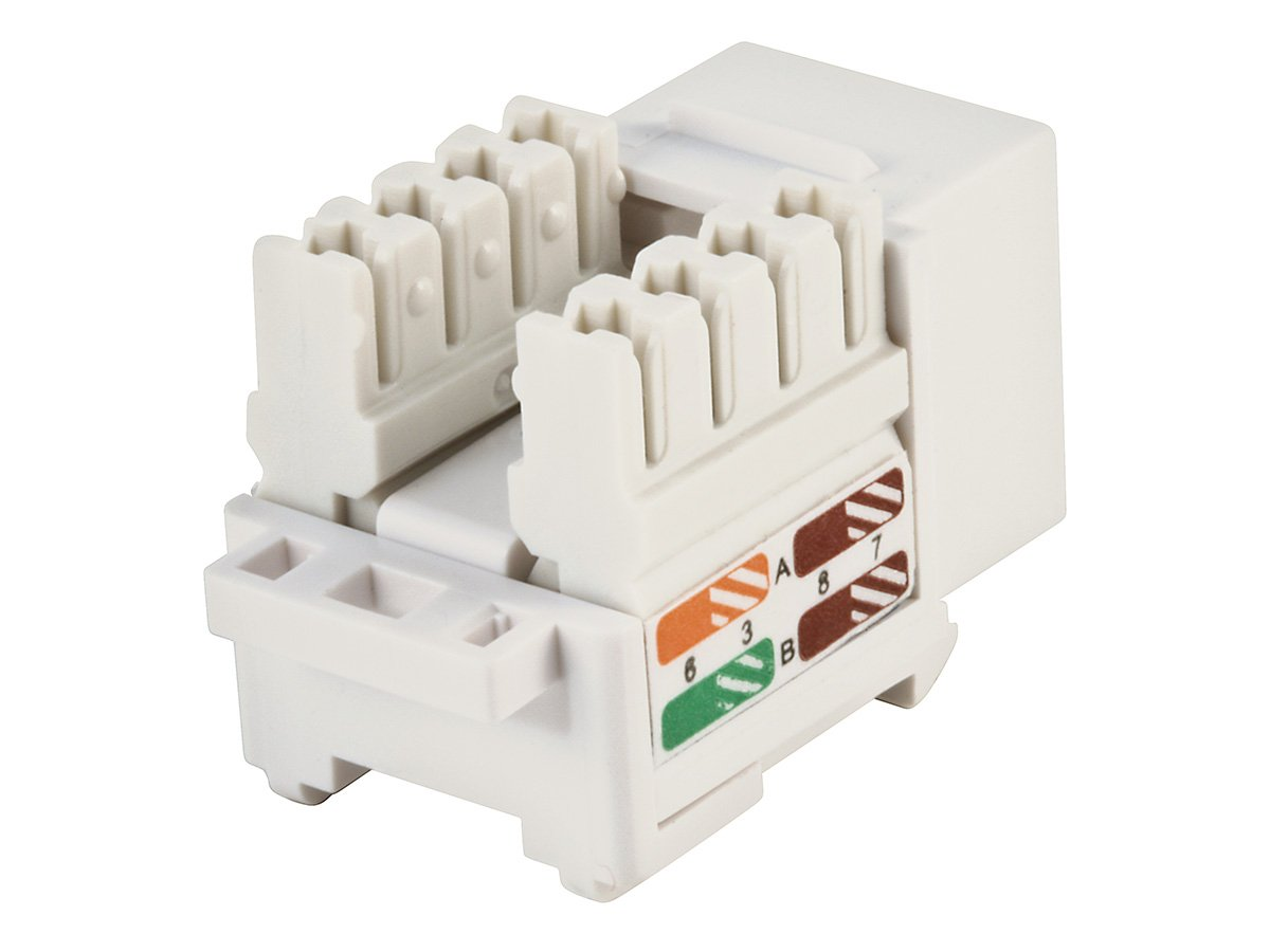 Amazon.com: Monoprice Cat5e Punch Down Keystone Jack, White (105376):  Computers & Accessories
