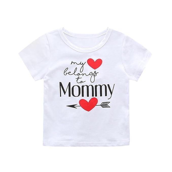 Amazon.com: Niños Chica día de la madre de bebé, jarsh ropa ...