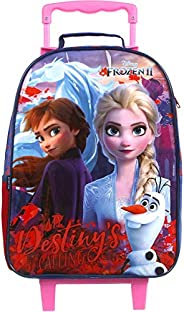 Mala Escolar G c/ rodinhas Frozen 2 Easy, Dermiwil, 37383, Multicolorido