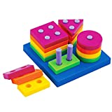 Wishtime Boys Girls Shape Sorting Board and Stacking Baby Funny Specialty Lea...