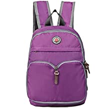 Hopsooken 25L Travel Hiking Backpacks Bags Ultra Lightweight Casual School Backpack For Men, Women and Girls College, Waterproof Climbing Camping Backpack (Purple)
