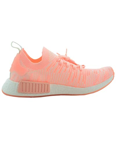 a15f421da0d78 adidas Originals Women s NMD R1 Pink Clear Orange Clear Orange Cloud White  5 B