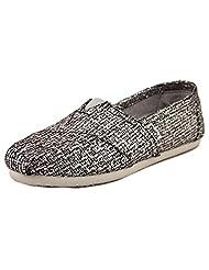 Toms Classics Silver Glitter Wool 10006172 Women's
