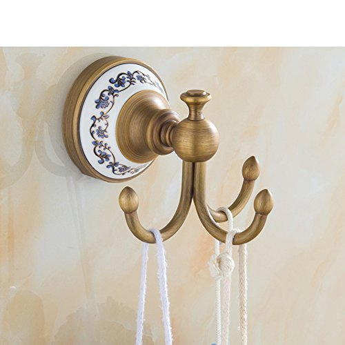 70%OFF clothes Hook/ wall mounted single link/Bathroom hook/European antique coat hooks