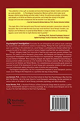 Psychological Investigations: A Clinicians Guide to Social Therapy