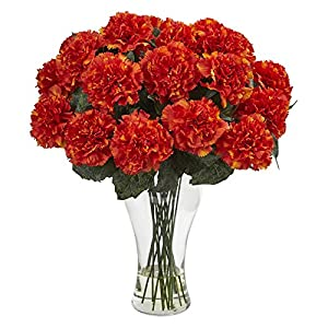 Nearly Natural Blooming Carnation Silk Flower 20