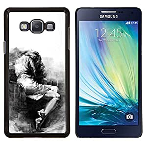 Eason Shop / Premium SLIM PC / Aliminium Casa Carcasa Funda Case Bandera Cover - Triste Llorando Depresión melancólica Heartbreak - For Samsung Galaxy A7 ( A7000 )
