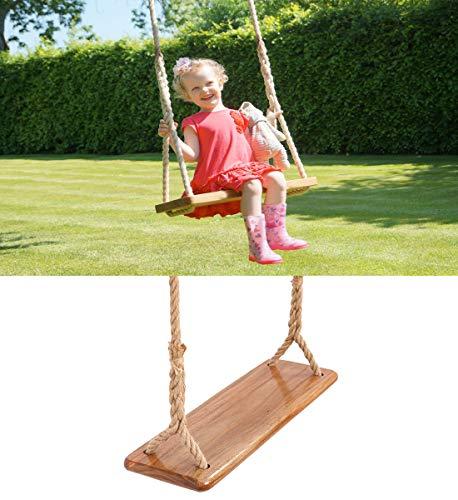 Tree Swing Seat Hanging Wooden Tree Swings for Children Kids Garden,Yard, Indoor, Elm Wood Durable Can Withstand 440IB,Kide Swings(15.76.3IN)