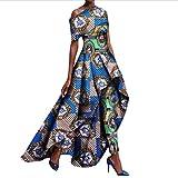 Abetteric Womens Long Pants Fit Africa Dashiki Dress Suit Cocktail Long Dress 2 5XL