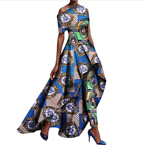 Abetteric Womens Long Pants Fit Africa Dashiki Dress Suit Cocktail Long Dress 2 5XL by Abetteric