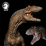 W-Dragon Studio 1/35 Scale Allosaurus fragilis Statue Blue Tongue Pool Base Realistic Large Jurassic Dinosaur Figure Animal Model Collector Toys Decor Gift for Adult Pre-Order