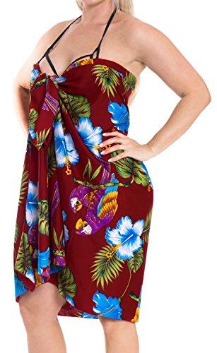 incorporati vestito da da legami LA bagno e466 beachwear insabbiamento costume Marrone nodo sarong bikini LEELA bagno ricorrono xCwAvqOIw