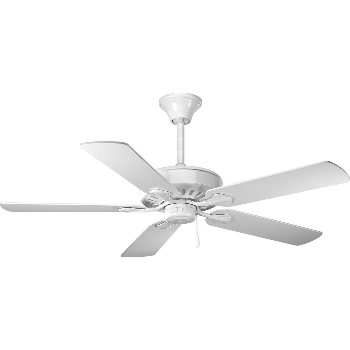 Progress Lighting P2503-30W 52-Inch Performance 5 Blade Fan with 3-Speed Reversible Motor, White